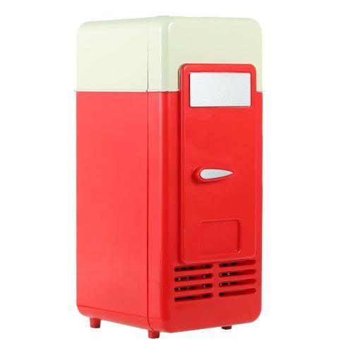 Fridge Beverage Drink Cans Cooler Warmer Red Blue LED Light