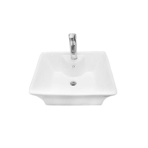 Art Hanging Wash Hand Basin With Mixer - White