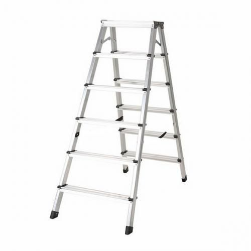 6+6 Step Aluminum Double Sided Ladder - 6 Steps