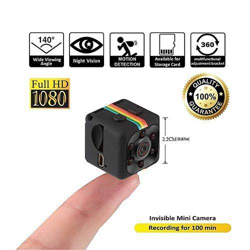 Mini Camera 1080P HD Camcorder Night Vision - Black