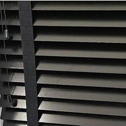 Wooden Window Blinds - Black