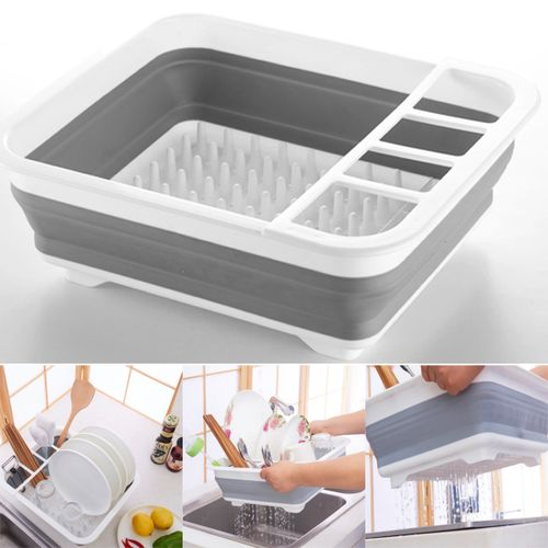 Collapsible Folding Dish Drainers Camping Caravan Boat Dish Drainer Drying
