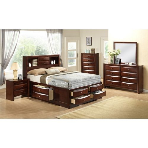 Luxury Functional Bed Set( 6by6/6by7) + Chest Drawer + Side Drawer+Mirror Set