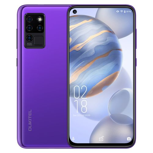 "C21 4G 6.4"" FHD ( 64GB ROM 4GB RAM) 20MP AI Selfie 16MP Matrix Quad Camera Android 10 4000mAh Smartphone-PURPLE"
