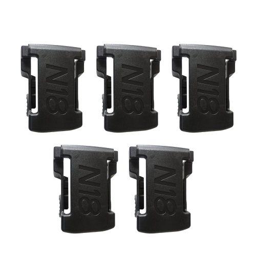 5PCS Battery Mounts For M18 48-11-1850 Storage Shelf Rack Stand Holder Slots Black