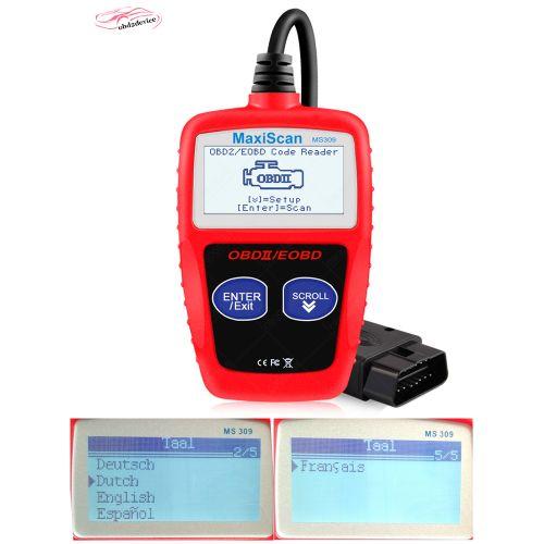 NEW Lecteur OBD2 Ⅱ Scan EOBD ECU Voiture Outil Diagnostique MS309 Scanner Code BUS