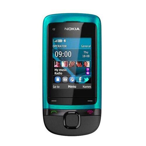 New Nokia C2-05 0.3MP Camera GSM 900 / 1800 Un-locked Slide Cell Phone Blue