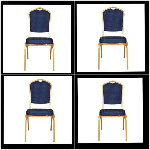 Banquet Chair Blue (set Of 4)