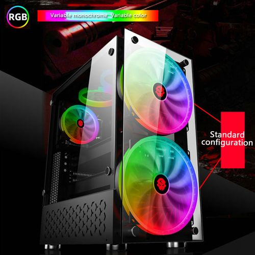 ATX Gaming Cooling PC Case With 2 Color Changing Fan Computer Case