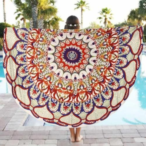 Indian Round Mandala Beach Bohemian Throw Hippie Yoga Mat Towel Tapestry Blanket