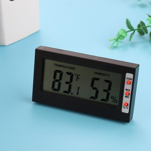 Digital Indoor Thermometer Monitor Gauge 2-in-1 Monitor