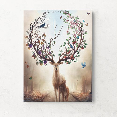 Modern Unframed Canvas Print Deer Home Decor -30x40cm