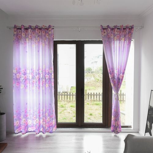 European Style Polyester Simple Printing Window Curtain Blackout Drape Bedroom Living Room Decor