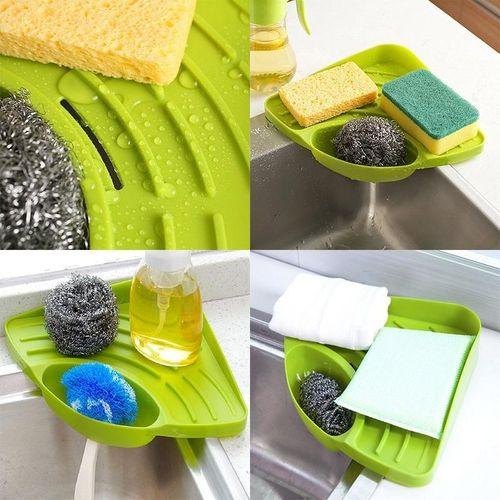 Portable Kitchen Sink Corner Storage Rack Sponge Holder