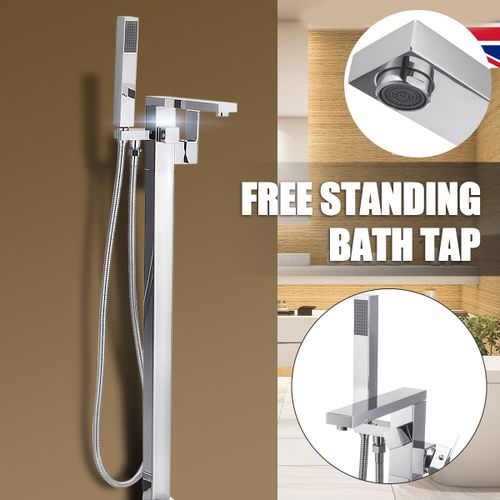 Freestanding Floor Mounted Bath Shower Mixer Tap