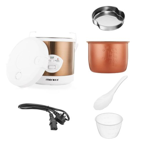 Mini 1.2L Rice Cooker 220V 200W Multifunctional Cook Rice Porn&Soup Automatic Temperature Control Food Warmer Stain Steel