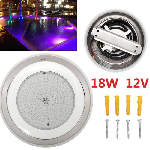 Stainess 100% Resin Filled Led Swimming Pool Lights 18W RGB Multi-color 12V