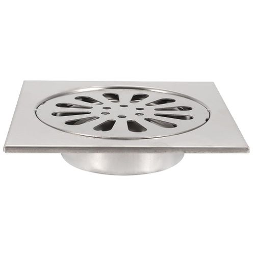 Shower Drain Bathroom 304 Stainless Steel Bathroom Shower Room Bathroom Balcony Filter Mesh Floor Drain Wastewater Discharge Device