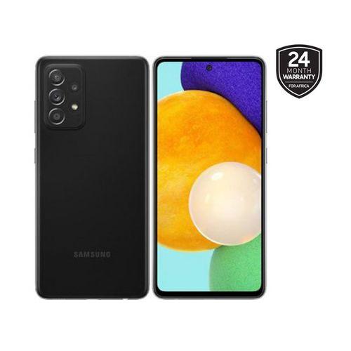 "Galaxy A52 - 6.5 "", 6/128GB Memory, 64/12/5/5MP Rear Camera, 32MP Selfie, Water Resistant, Dual SIM, 4G - Awesome Black"