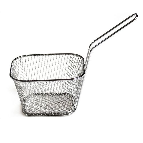 Stainless Steel Chef Basket Mini Fry Baskets Fryer Cooking French Fries Basket