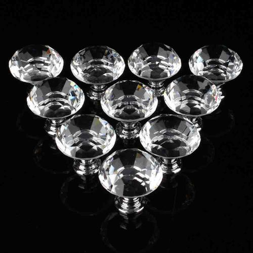 10Pcs Crystal-Glass-Cabinet-Knobs-Drawer-Dresser-Knobs-Cupboard-Handles-Set-of-10PCs