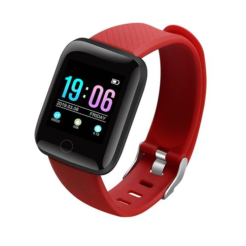 XANES Smart Watch Heart Rate Blood Pressure Monitor Fitness For IOS Android-Red