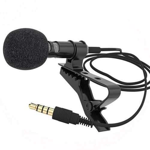 Mini Clip-on Lapel Lavalier Mic Wired Microphone For Phone For Laptop