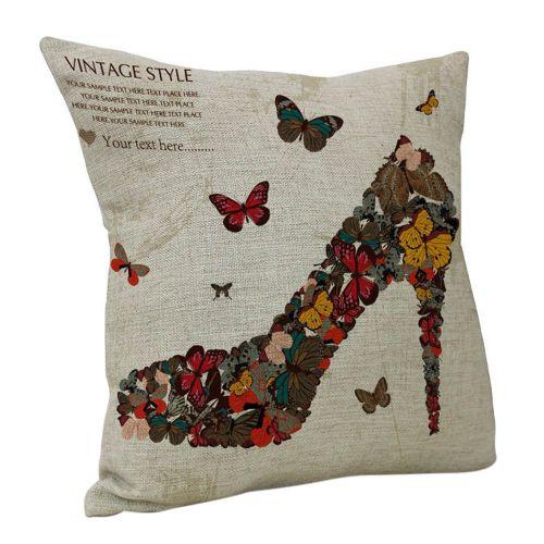 Herkiller Vintage Retro Cotton Linen Waist Throw Pillow Case Cushion Cover Home Sofa Decor-As Shown