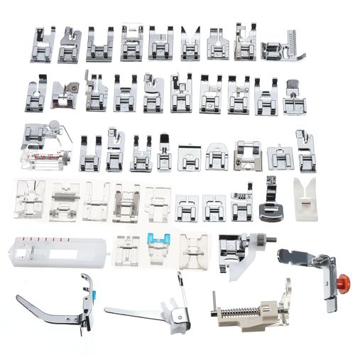 48 PCS Sewing Machine Presser Foot Feet Tool Kit Set For Brother Singer Domestic