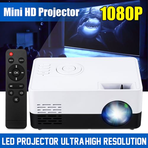 Portable Pocket Mini LED Projector Full 3D HD 1080P HDMI - UK Plug