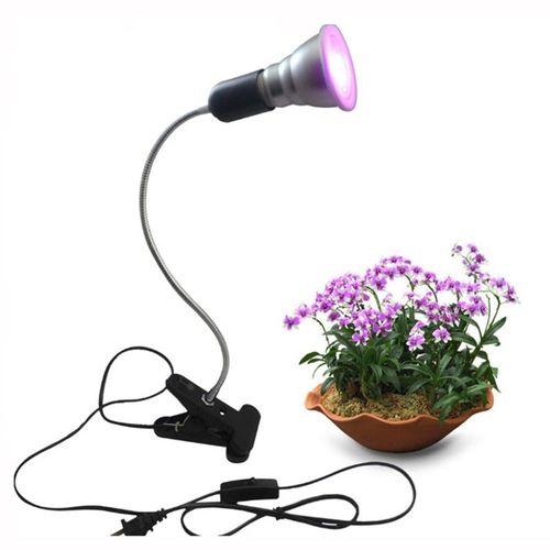 7W LED Growing Light Desk Clip 360 Flexible Adjustable Gooseneck Growth Lamp Indoor Greenhouse Plants Vegetables