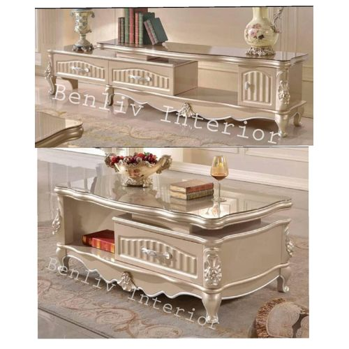 Royal Tv Stand With Center Table Delivery Withing Lagos)