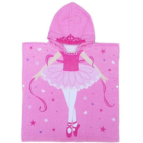 Class A Formaldehyde-Free Children'S Bath Cotton Hooded Bath Towel Foundation Dancing Girl