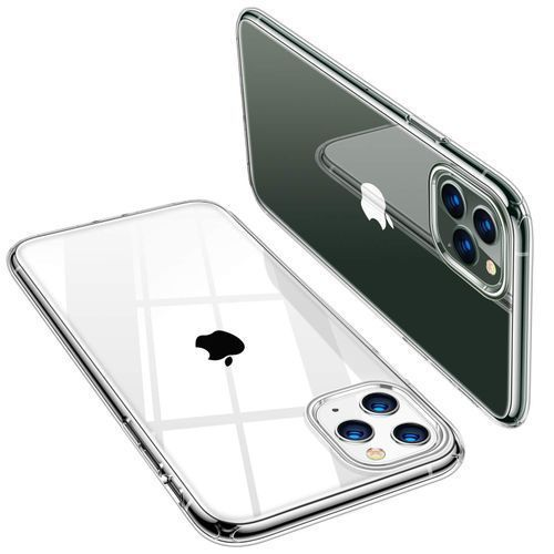 Apple Iphone 11 ProMax Transparent Case Cover +9D/10D Glass Screen Protector -11Pro Max
