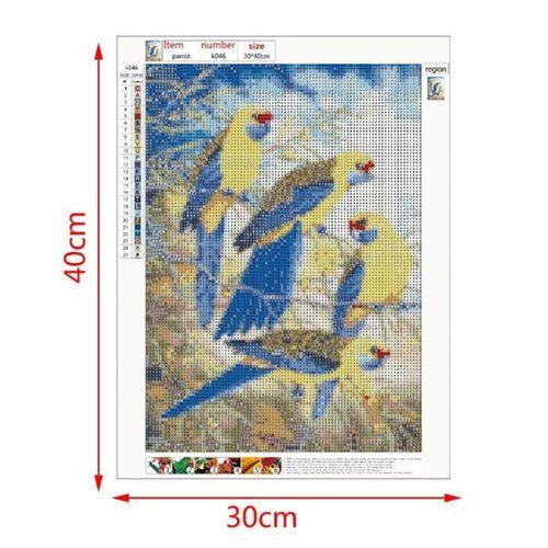 5D DIY 4 Pack Diamond Painting Kits Bird Full Drill Cross Stitch Home Decor
