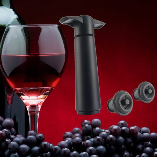 Watermalend Wine Bottle Saver Vacuum Wine Pump With 2 Stoppers Sealing Preserver