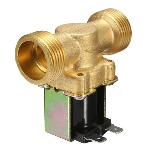 DC 24V 21WA 43WA Brass Electric Solenoid Valve Normally Closed Air Water Control Gold