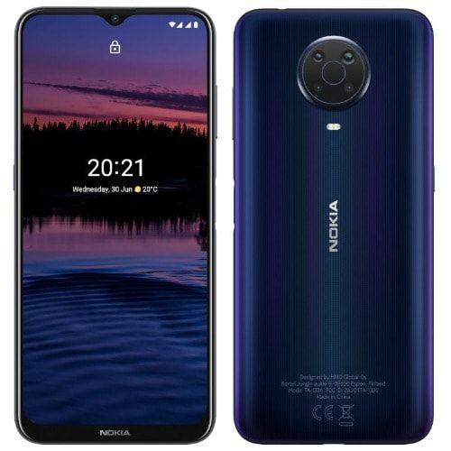 "G20, 6.5"" HD+ (4GB RAM, 64GB ROM) Android 11 (48/5/2/2)MP + 8MP Selfie - 4G - 5050mAh - Fingerprint- Night/Dark Blue"