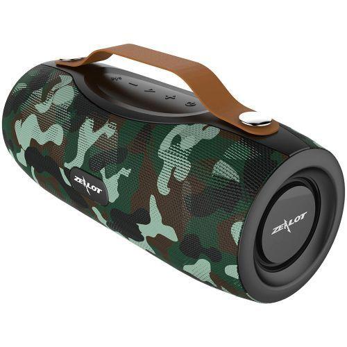 NEW S29 Portable Bluetooth Speaker Fm Radio Outdoor Bass Wireless Speaker+Power Bank+Flashlight,Support TF Card,U Disk(Camouflage) WOW1238
