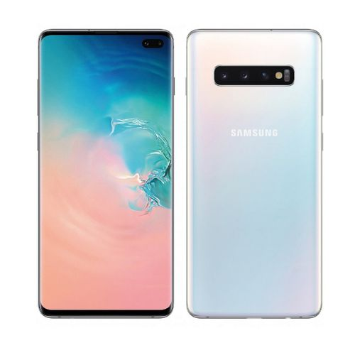 Galaxy S10 Plus 6.4-Inch AMOLED (8GB, 128GB ROM) Android 9.0 Pie,(12MP + 12MP + 16MP)+(10MP+8MP) Dual SIM 4G - SILVER