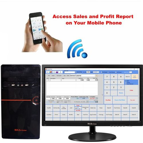 Maxview MONITOR + Desktop Computer + POS Software + Mobile Report Alert