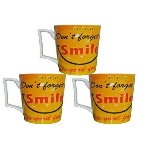 Set Of 3 Don't Forget To Smile Mug