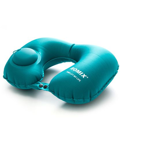 Hand Pressure Inflatable Neck Pillow-Blue