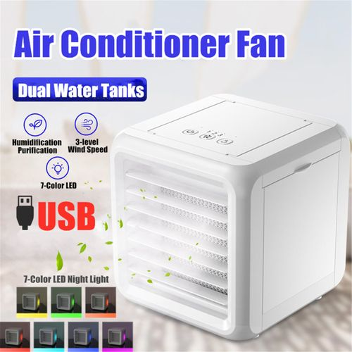 Portable Mini Air Conditioner Water Cool Fan LED Humidifier