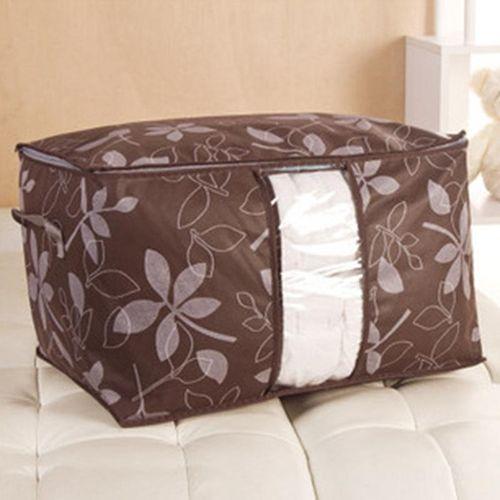 Eleganya New Fine Leaves Printing Thickened High Capacity Quilt Storage Bag