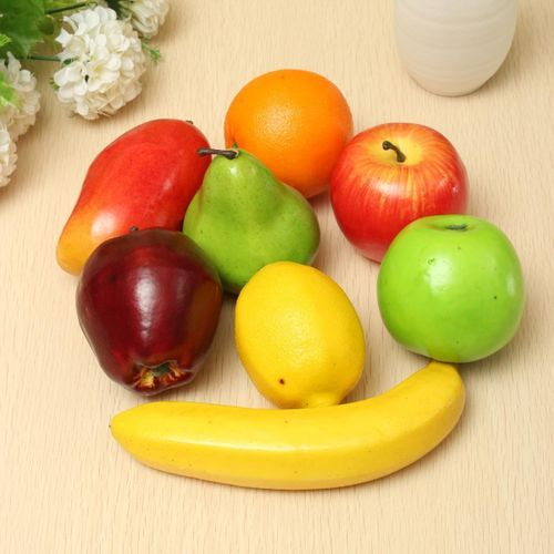 Lifelike Plastic Fruit Kitchen Artificial Faux Food Display Home Decor Craft