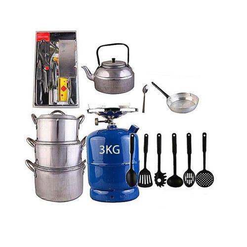 Economy Kitchen Bundle(3kg Gas Cylinder & Kitchen Utensils)
