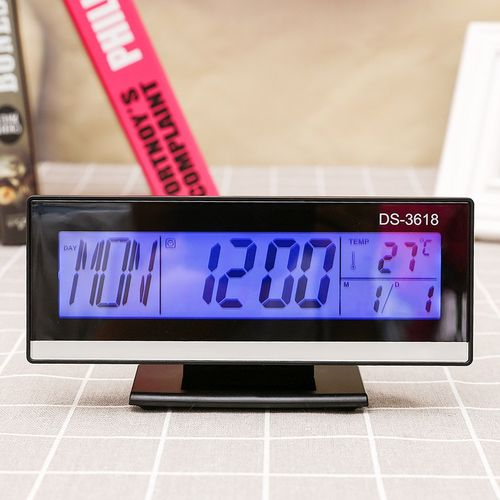 Rectangle Luminous Snooze Date Voice Electronic Clocks