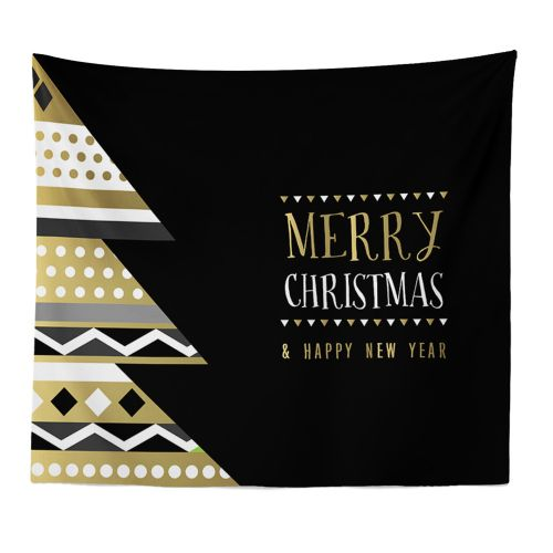 Generic Merry Christmas Beach Cover Up Tunic Tapestry Tablecloth Home Decor 150*130cm