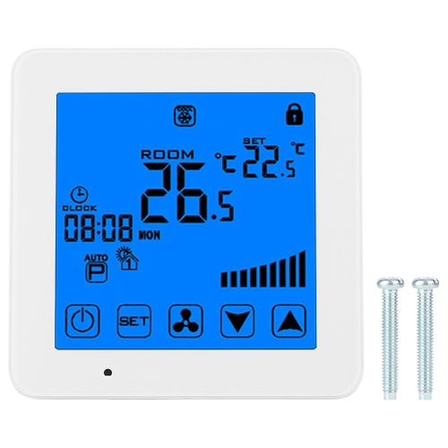Touch LCD Screen Thermostat Air Conditioner Temperature Controller AC 220V